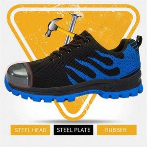 Men's Safety Shoes Steel Toe Construction Protective Footwear Lightweight 3D Shockproof Work Sneaker Shoes For Men size48 EloL#