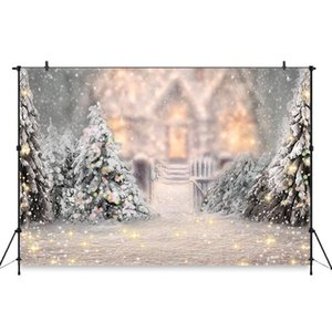 Christmas Family Party Backdrops Winter Snow Tree Santa Wood Floor Kid Backgrounds Fireplace Gift Photocall For Photo Studio