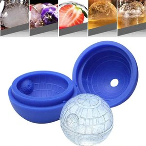 Rodada Bola Ice Cream Mold criativa Silicone Sphere Ice Cube Moldes Bar Partido Bandeja Cocktail Fruit Juice Beber Ice Maker Moldes DHB1679