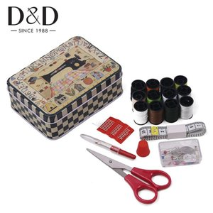 Portable Travel Sewing Box Sewing Thread Stitches Kits Knitting Needles Tools Cloth Buttons Craft Scissor Christmas Mom Gifts