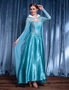 8lH5F blauen Kostüm Cinderella Service Service Princess Kleid Aisha Halloween Schnee Prinzessin Kostüm Königin Aisha Kleid