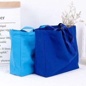OEM Fashion Shopping bag Canvas Cotton Clothes Handbag School Student book bag Shipping