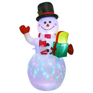 Regalo Pacchetto pupazzo gonfiabile Pupazzo di Natale Yard Garden gonfiabile Ornamenti di goccia Giocattolo della decorazione della casa 1.5M Giant