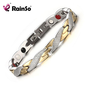 Rainso Brand New Магнитные 4 Health Care элементы из нержавеющей стали 316L Браслеты браслеты для ювелирных изделий способа женщин ОСБ-692GFIR