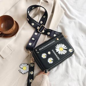 Bolso del patrón de flor de las mujeres del hombro del monedero del sobre Mujer bolso de cuero de calidad Bolsa diaria carpeta de las mujeres del teléfono Bolsas CC Speedy
