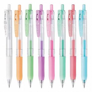 Бесплатная доставка 8шт Япония Zebra Milk Color Series Sarasa CLIP JJ15 Пастель на водной основе гель Ink Pen Multicolor письменных принадлежностей Vj9v #