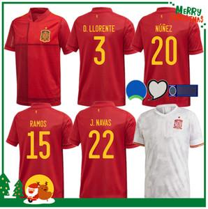 2020 2021 스페인 홈 어웨이 축구 유니폼 아센시 모라 타 ISCO 이니에스타 파코 알카 세르 티아고 축구 성인 남자와 아이 키트 셔츠