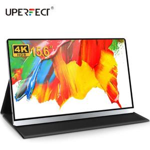 UPERFECT monitor portátil de 15,6 polegadas 4K USB Display LCD C HDMI computador com alto-falante para computador portátil Telefone Gaming monitor