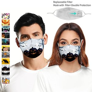 Máscaras Máscaras Halloween 3D Impresso reutilizável poeira Adulto Digital Printing Cotton Gaze Mask Anti-fog lavável face DHD183