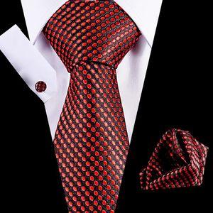 Casamento gravata dos homens 7,5 centímetros 100% Silk gravata Handkerchief Cuffink Set Luxo Flomal acessórios vestido de Mens Ties Set