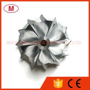 GT15 25 436 131 0002 38,62 / 52.19mm 6 + 6 palas Turbo de aluminio 2618 / Fresado / rueda del compresor Billet para 452204/454061/454135/70595