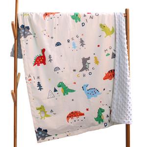 New Cotton Baby Quilts Swaddles Soft Newborn Blankets Bath Gauze Infant Wrap Sleepsack Stroller Cover Play Mat Baby 150*115cm