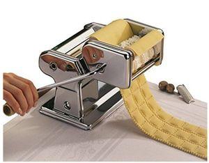 Triplo Lâmina Dividir Noodle Criador Dough Rolling Machine Stainless Steel Mão Pressão Dumpling Wrapper Máquina Manual Noodle Máquina