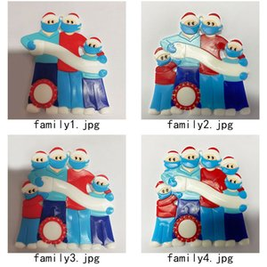 2020 Nombre de bricolaje Bendiciones muñeco de nieve 3D Christmas Tree colgando colgante de PVC punto Máscara Nuevo Decoraciones de Navidad de Santa Claus envío libre