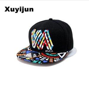 Xuyijun Unique personality color graffiti Snapback Caps Flat Hip Hop Cap Baseball Hats For Men and woman bone Casquette dad caps
