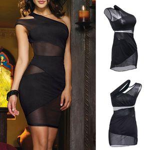 Las mujeres sin mangas del acoplamiento atractivo del vendaje de Bodycon del partido de Clubwear del vestido de la falda del bikini Cover Up ropa de playa
