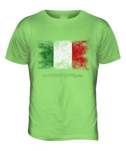İTALYA sıkıntılı FLAG Erkek Tişörtü TOP ITALIA FUTBOL İTALYAN HEDİYE GÖMLEK Retro Tee Gömlek