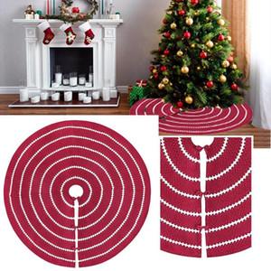 48-Zoll-Wein-Rot Weihnachtsbaum-Rock-Base-Weihnachtsbaum Mat Dekor Ornaments Unterboden-Matten-Abdeckung Zuhause-Party-Dekoration