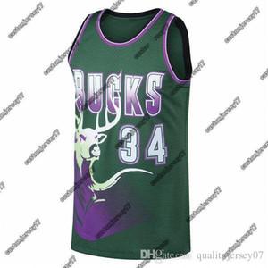 Erkekler BucksMilwaukee34 Allen MitchellNess Kelly Green 1996-1997 AhşapKlasikler swingman Jersey Ray basketbol