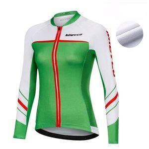 Mieyco Kış Bisiklet Jersey Termal Polar Bayan Long Sleeve Top Spor Dağ Bisikleti Gömlek Bisiklet Ceket WINDBREAKER Yarışı