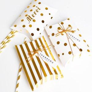5Pcs Set partito / Forniture Multi Purpose Dot / banda Festa di Natale Decora cartone caramella scatole regalo Pillow Shape
