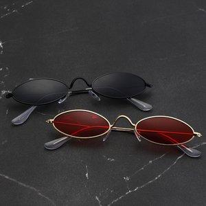 Sunglasses Small Round Glasses Vintage Retro Steampunk Trendy For Women Unisex Alloy Brand Designer UV400