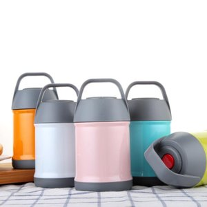 Stainless Steel Thermal Lunch Boxes Portable Vacuum Stew Pot Double Wall Water Bottle Vacuum Flasks Kettle DHC1506