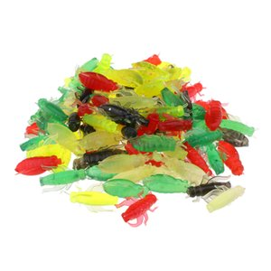 100pcs Cricket Bait morbido di pesca di richiamo di richiamo leggero Insect esche artificiali portatile per Acque dolci Acque salate