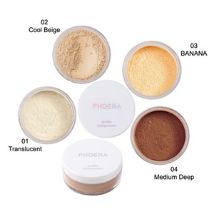 New Phoera Translucent Loose Setting Face Powder Makeup Foundation Smooth Full Size Free Fast DHL Shipping