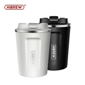 Coffee Roasters HiBrew Thermal Mug Stainless Steel Double Wall Cool Touch Finger Print Free Direct Drink