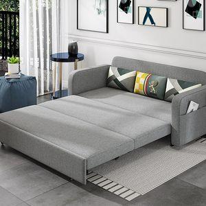 Sofá cama de doble uso Sala de estar plegable Pequeña familia Doble Funcional Tela de látex Art 1 M 8 Cama variable