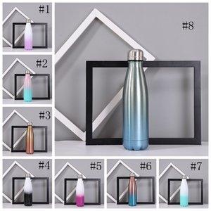Sublimation Gradient Cola-Flasche Edelstahl-Thermostassen Gradient Farbe Doppelschalig Insulated Coke-Becher Cola formte Tumblers GGA3705-1