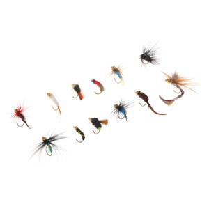 12x per tutti gli usi Dry Fly Fishing Hook Streamer Lure Kit Fly Fishing Flies per la spigola trota salmonata