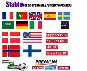 Offre spéciale européenne Smart TV Android iOS Mag box M3U états-unis allemagne italie pays-bas arabie roumanie Canada programmes de télé