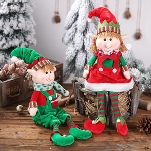 Zicheng nueva Navidad piernas colgando duende que se sienta niños postura duende de la Navidad regalo de la muñeca de la muñeca accesorio adornos venta caliente 3UDkQ