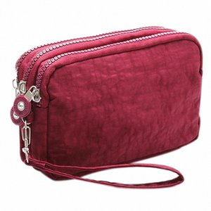 Lady Phone Wallet Package 3 Layers Handbag Cross Section Clutch Bag Large Capacity Valentines Gift WfzI#