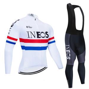 INEOS Kit d'hiver Cycling Jersey 2020 Pro Team gel thermique Vêtements vélo Toison 9D rembourré Salopette mis Ropa Ciclismo Invierno
