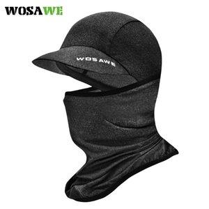 WOSAWE Tecido gelo Ciclismo bicicleta Cap Headwear Anti-UV Sunshade equitação chapelaria da bicicleta Bandana Máscara Facial Sports Hat Scarf