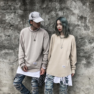Couple outfit autumn and winter round neck sweater men and women sports leisure long-sleeved bottoming T-shirt