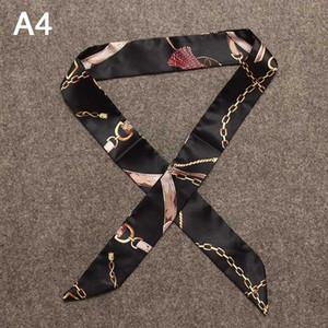 Accessori sciarpa di seta per le borse di moda Borsa Foulard Modello Sciarpa di seta selvaggia di Legato sacchetto del commercio all'ingrosso 40 stili 2020