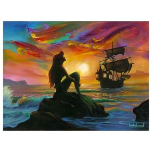 "Jim Warren ""Waiting for Ship to Come In"" Home Decoration Handpainted &HD Print Oil Painting On Canvas Wall Art Canvas Pictures 200920"