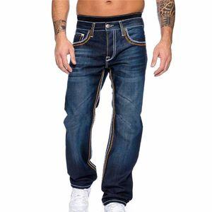 Calças Jeans de Laamei Skinny Calças Men Casual 2020 Autumn Stripe Masculino Magro motociclista Sweatpants Vida Diária Outwears Calças