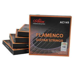 5Sets Alice Flamenco Guitar Strings Crystal Nylon Silver Plated Normal Tension AC149N