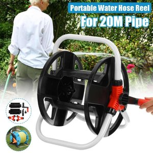 20M Garden Hoses Reel Garden Pipe Storage Cart Pipe Exclude Winding Tool Rack Watering Portable Car Cleaning Decor