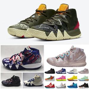Erkek KII 4 IV Basketbol Ayakkabıları Sıcak Satış Tasarımcı Konfeti BHM EŞITLIĞI All-Star Mart Madness Şehir Guardians Londra Mamba Sneakers Kyrie Irving 4  40-46