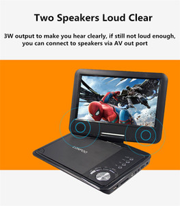 Freeshipping 9 Inch Portable DVD Player Swivel Screen VCD CD MP3 DVD Player USB SD Card RCA TV Cable Game Car Charger DVD Player