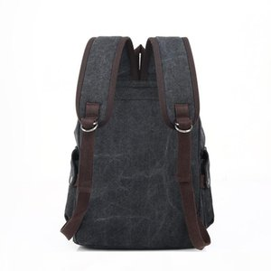 Leather Luggage Tag Factory Wholesale Custom Canvas Backpack Casual Womens Bag Outdoor Travel Bag Big High School Student Bag Purse Hook