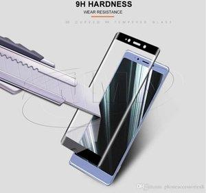 Tampa temperado Protector Retail Além da tela do telefone gratuito Curvo Sony completa Xperia10 1 10 XA3 3d Package L3 Xperia Dhl Vidro Para Com yxlvZ