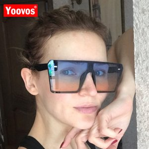 Yoovos 2020 Große Rahmen-Sonnenbrille-Frauen-Retro- Ozean-Objektiv Spiegel Quadrat Sonne Gläser Weinlese-Marke UV400 Lentes De Sol Mujer