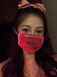 С Рождеством красочного LED мигает дизайнер маску для лица ночного бара светящегося цвета изменяя маску красного синих масок защиты розовых зарядок